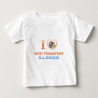 Amo Frankfort del oeste, IL Playera Para Bebé