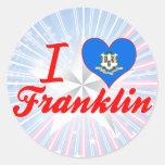 Amo Franklin, Connecticut Etiquetas Redondas