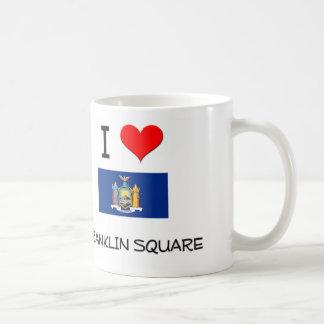 Amo Franklin Nueva York cuadrada Taza De Café