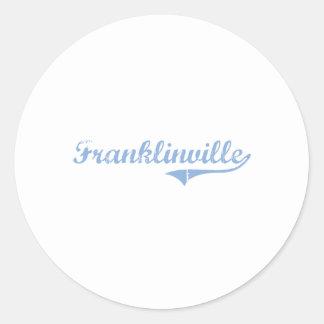 Amo Franklinville Carolina del Norte Pegatina Redonda