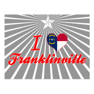 Amo Franklinville, Carolina del Norte Tarjetas Postales