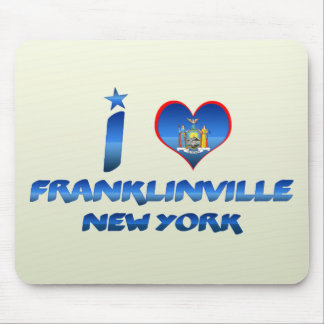 Amo Franklinville, Nueva York Mouse Pads