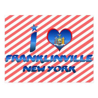 Amo Franklinville, Nueva York Tarjetas Postales