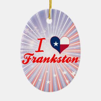 Amo Frankston, Tejas Adorno Navideño Ovalado De Cerámica