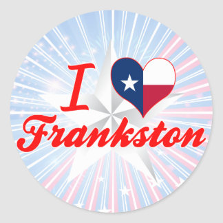 Amo Frankston, Tejas Pegatina Redonda