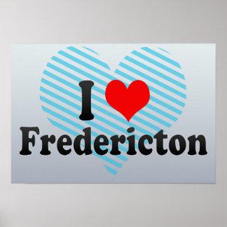 Amo Fredericton Canadá Poster