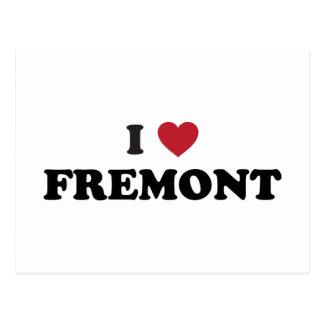 Amo Fremont California Tarjetas Postales