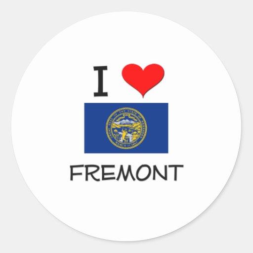 Amo Fremont Nebraska Etiqueta Redonda