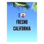 Amo Fresno, California Tarjeta Postal