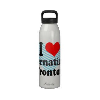 Amo Fronton internacional Botella De Beber