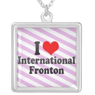 Amo Fronton internacional Pendientes Personalizados