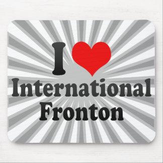 Amo Fronton internacional Alfombrilla De Raton
