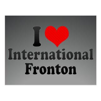Amo Fronton internacional Tarjetas Postales