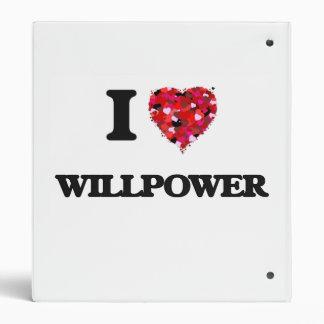 "Amo fuerza de voluntad carpeta 1"""