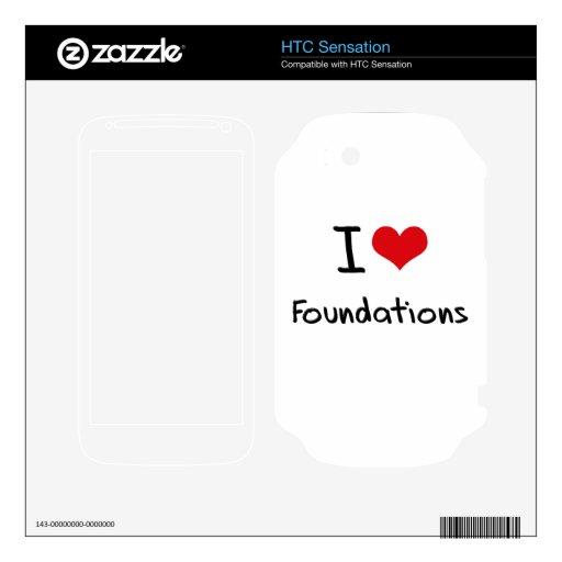 Amo fundaciones HTC sensation skin