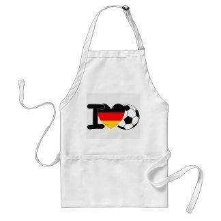 Amo fútbol alemán delantal