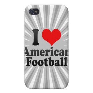 Amo fútbol americano iPhone 4 cárcasa