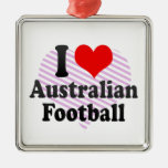 Amo fútbol australiano adorno de reyes