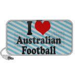 Amo fútbol australiano iPod altavoz