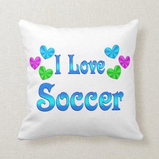 Amo fútbol cojín