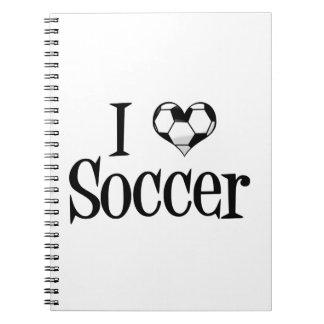 Amo fútbol cuaderno
