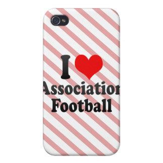 Amo fútbol de asociación iPhone 4 cobertura