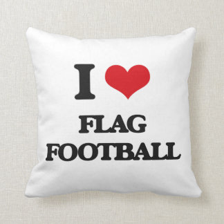 Amo fútbol de bandera almohada