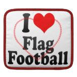 Amo fútbol de bandera funda para iPads