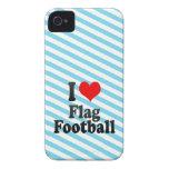 Amo fútbol de bandera iPhone 4 Case-Mate protector