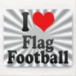 Amo fútbol de bandera tapete de ratón