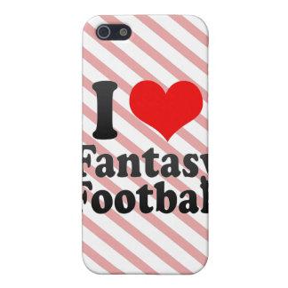 Amo fútbol de la fantasía iPhone 5 protector