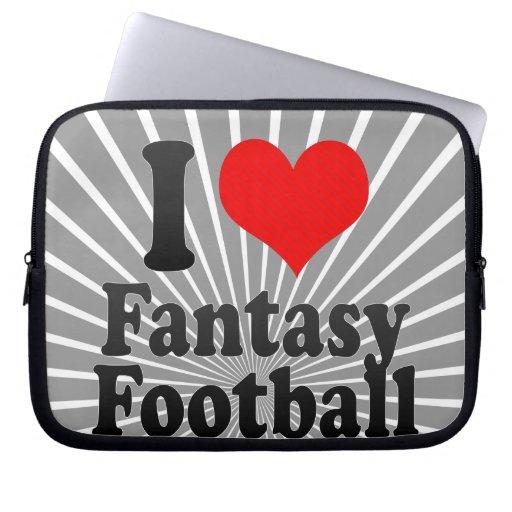 Amo fútbol de la fantasía funda ordendadores