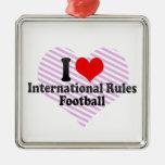 Amo fútbol de las reglas del International Ornamento De Reyes Magos