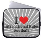 Amo fútbol de las reglas del International Funda Portátil