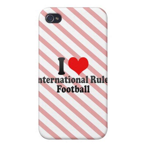 Amo fútbol de las reglas del International iPhone 4/4S Fundas