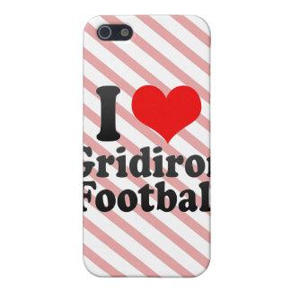 Amo fútbol del Gridiron iPhone 5 Carcasas