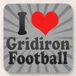 Amo fútbol del Gridiron Posavasos