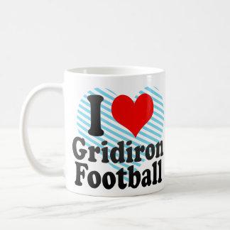 Amo fútbol del Gridiron Tazas