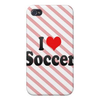 Amo fútbol iPhone 4/4S funda