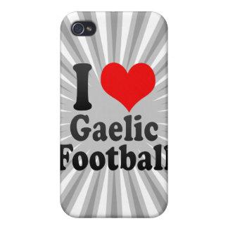 Amo fútbol gaélico iPhone 4 protectores