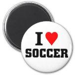 Amo fútbol imán de nevera