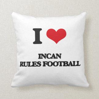 Amo fútbol Incan de las reglas Almohadas