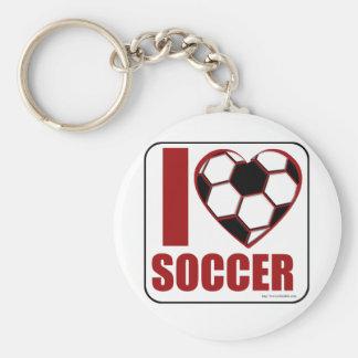 ¡Amo fútbol! Llavero Redondo Tipo Pin