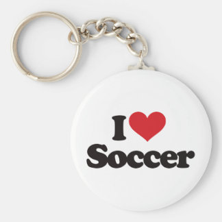 Amo fútbol llavero redondo tipo pin