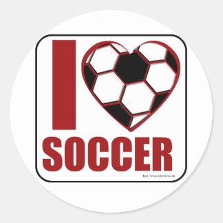 ¡Amo fútbol! Pegatinas Redondas