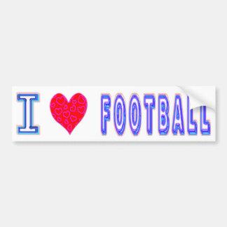 Amo fútbol pegatina para auto
