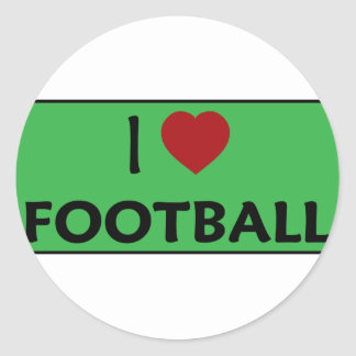 Amo fútbol pegatina redonda