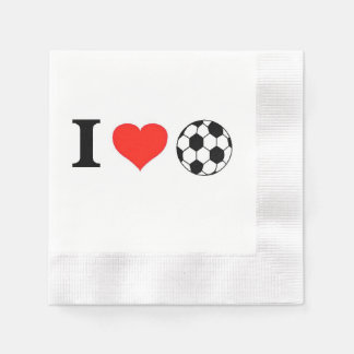 Amo fútbol servilleta desechable