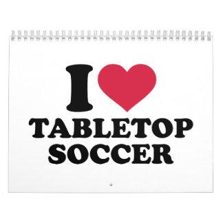 Amo fútbol tablero calendario