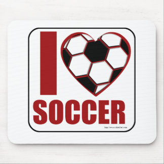 ¡Amo fútbol! Alfombrillas De Ratones